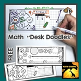 "Trick or Treat! (Free) - Math ""Desk Doodles"""