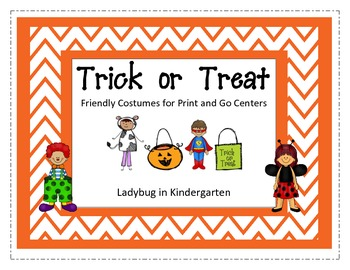 Trick or Treat Friendly Costumes Print and Go Centers