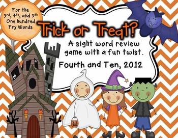 Trick or Treat {Fry Word Game for Bigger Kids}