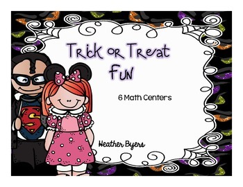 Trick or Treat Fun! math centers