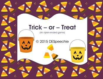Trick or  Treat Game - FREEBIE