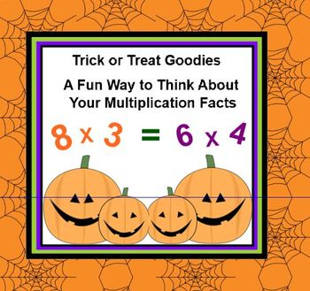 Trick or Treat Goodies MULTIPLICATION Fun Facts