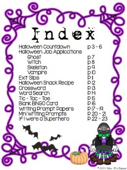 Trick or Treat - Halloween Activity Packet