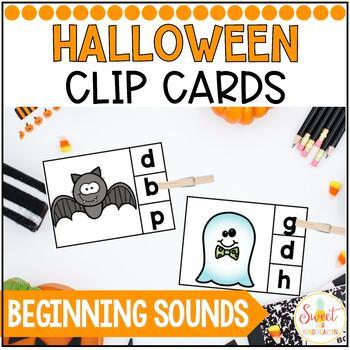 Halloween Beginning Sounds Clip Cards