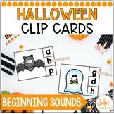 Halloween Beginning Sounds Clip-It