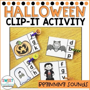 Trick or Treat Halloween Beginning Sounds Clip-It