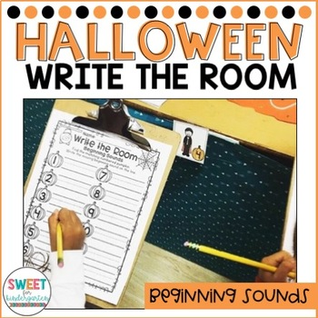Trick or Treat Halloween Beginning Sounds Write the Room