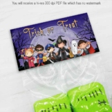 Trick or Treat Halloween Candy and Party Favor Bags Toppers, Goody Bag Topper