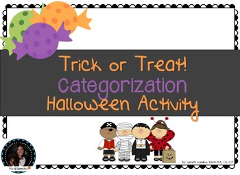 Trick or Treat Halloween Categories