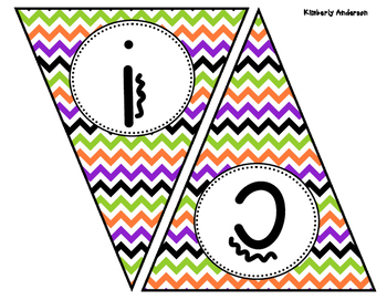 Trick or Treat Halloween Chevron Banner / Pennant