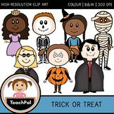 Trick or Treat - Halloween Costume Kids Clip Art