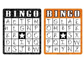 Trick or Treat! Halloween Letter Bingo