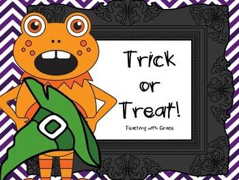 Trick or Treat! Halloween Letter Bingo