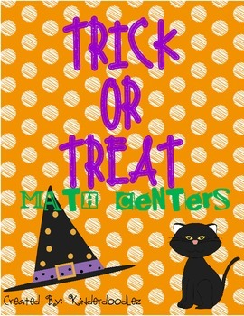 Trick or Treat Halloween Math Centers
