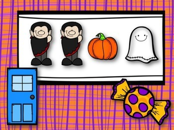 Trick or Treat! Halloween Rhythm Game for Eighth & Two Sixteenth Notes