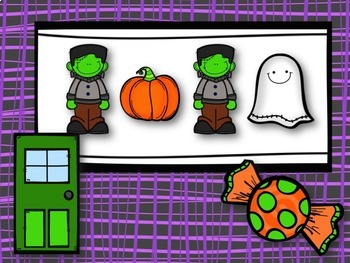 Trick or Treat! Halloween Rhythm Game for Two Sixteenths & One Eighth Note