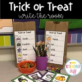 Trick or Treat Halloween Write the Room