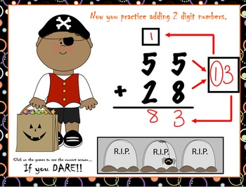 Trick or Treat  How to Teach 2-Digit Addition With Regrouping Smart Notebook