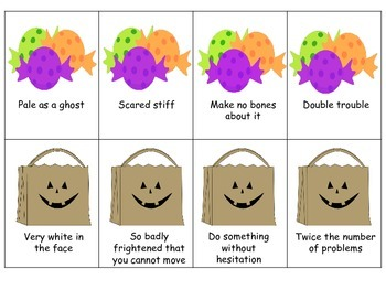 Trick or Treat Idiom Matching Cards