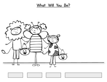 Trick or Treat Kids! {Draw and Label} Halloween Fun!