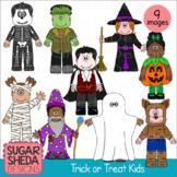 Trick or Treat Kids Halloween Clipart