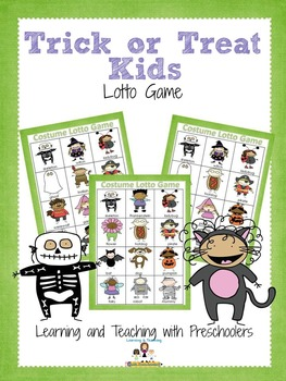 Trick or Treat Kids Lotto Game