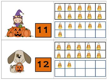 Trick or Treat Kids, Pumpkins, and Pets Eight Games for Teaching Teen Numbers