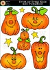 Trick or Treat Kids and Pumpkins Halloween Clipart [Marie Cole Clipart