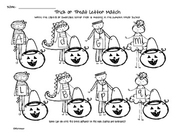 Trick or Treat Letter Match