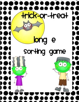 Trick-or-Treat Long E Sorting Game