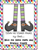 Trick or Treat: Math and Literacy Packet