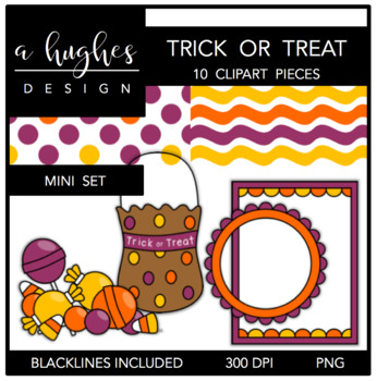 Trick or Treat Mini Set {Graphics for Commercial Use}
