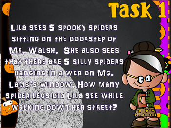 Trick or Treat Multiplication Word Problem Deck