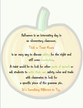 Trick or Treat Nouns