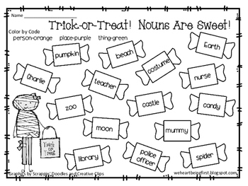 Trick-or-Treat! Nouns Are Sweet!
