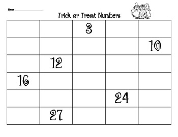 Trick or Treat Numbers Game