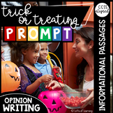Distance Learning | Trick-or-Treat Opinion Writing Prompt with Passages/Articles