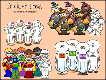 Trick or Treat Printable Clipart - Commercial Edition