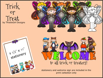Trick or Treat Printable Clipart - Personal Edition