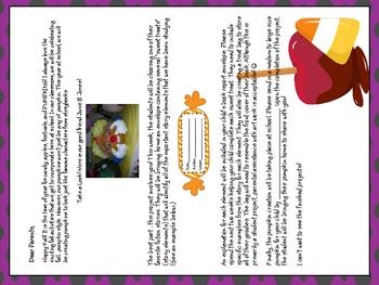 Trick or Treat Pumpkin Book Reports