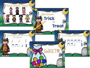 Trick or Treat Rhythm Game {half note}