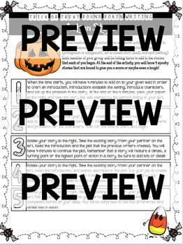 Halloween Writing Activity for Middle School