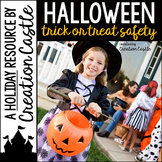 Halloween Activities Trick or Treat Safety Guided Reading Book and Crown