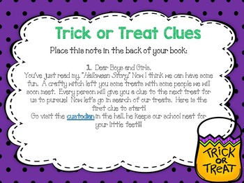 Trick or Treat School Tour