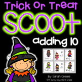 Adding 10 Halloween Scoot or Task Cards