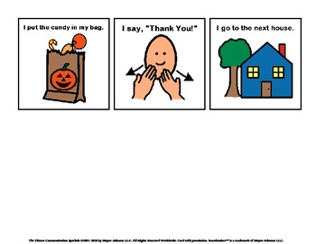 Halloween Trick or Treat Sequencing cards / Social Story
