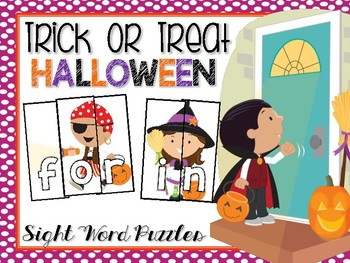 Trick or Treat Sight Word Puzzles