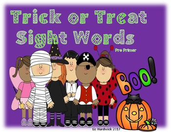 Trick or Treat Sight Words (Pre Primer)