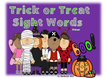 Halloween Trick or Treat Sight Words (Primer)