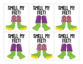Trick or Treat - Smell My Feet!  A Fry Words Halloween Game:  300 Fry Words!
